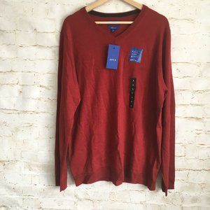APT 9 Men's Large Red Slim Fit Pullover Sweater